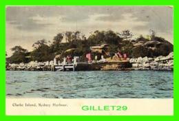 SYDNEY, AUSTRALIE - CLARKE ISLAND, SYDNEY HARBOUR - ANIMATED WITH PEOPLES -  HARDING & BILLING'S - - Sydney
