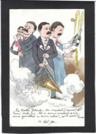 CPA Bobb Satirique Caricature Non Circulé Dessin Original Fait Main Presse Pataud Champagne Grèves - Satira