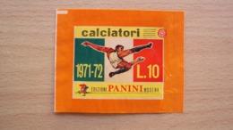 SPORT CALCIO BUSTINA FIGURINE CALCIATORI PANINI 1971 1972 VUOTA  APERTA A LATO COME DA FOTO - Calcio