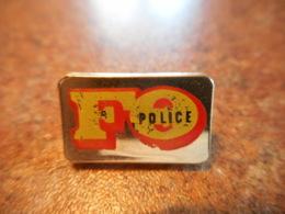 A039 -- Pin's FO Police -- Exclusif Sur Delcampe - Police