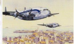 Bréguet 763 'Provence'  -  Air France Ligne Paris-Marseille-Alger - Artiste: Tiennick Kévérel  -  CPM - 1946-....: Ere Moderne