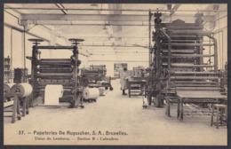 PAPETERIES DE RUYSSCHER S.A. BRUXELLES , USINE DE LEMBECQ (LEMBEEK) ,  SECTION B , CALANDRES - België