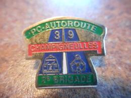 A039 -- Pin's CRS PC Autoroute 39 2° Brigade Champigneulles - Police