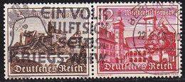 GERMANY REICH [Zdr] W144 ( O/used ) Bauwerke - Se-Tenant