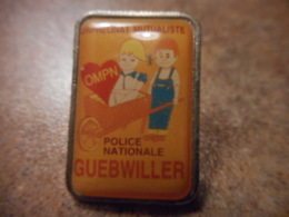 A039 -- Pin's Police Nationale Guebwiller - Police