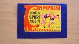SPORT CALCIO BUSTINA FIGURINE CAMPIONI DELLO SPORT 1970 1971 VUOTA  APERTA A LATO COME DA FOTO - Calcio
