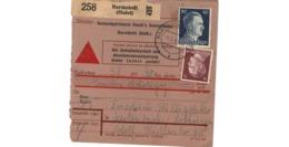 Allemagne  - Colis Postal  - Départ Barmstedt ( Holst ) - Allemagne
