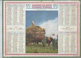 ALMANACH DES POSTES  1951 ( CALENDRIER )  LOURD ET RICHE FARDEAU - Calendriers