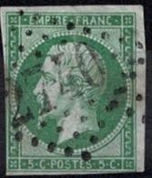 France Napoleon III 1854 - YT N°12 - Oblitéré - 1853-1860 Napoléon III