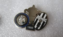 Finale Coppa Italia Inter - Juventus 1959 Distintivo Soccer Pins Juve BiancoNero Calcio Football Conio Moderno - Calcio