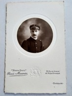 Photographie Ancienne Type Cabinet - Portrait MARIN - Photo Rosa Maunier, TOULON - TBE - Guerra, Militari