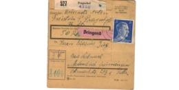 Allemagne  - Colis Postal  - Départ Pragerhof - Deutschland