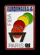 Pin's FIBA,  Eurofinal à 4, Basketball PARIS 1991 - Basketball