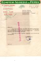 86- POITIERS- RARE FACTURE COMPTOIR AGRICOLE DU POITOU- TRACTEUR MAC CORMICK DEERING-CHAMPENOIS-HUARD FILLOD-ALFA LAVAL- - Agriculture