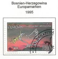 Bosnien-Herzegowina  1995  Mi.Nr. 24 , EUROPA CEPT - Frieden Und Freiheit - Gestempelt / Fine Used / (o) - Europa-CEPT
