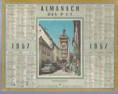 ALMANACH DES POSTES  1957 ( CALENDRIER ) RIQUEWIHR - LE DOLDER  ( PEUGEOT 203 ) - Calendriers