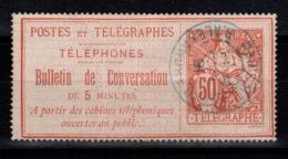 Telephone - YV 9 Oblitere - Telegraphie Und Telefon