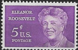 USA 1963 Eleanor Roosevelt Commemoration - 5c Eleanor Roosevelt MNH - Neufs