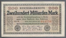P121b Ro118f DEU-143b. 200 Milliard Mark 15.10.1923 XF RARE - 200 Miljard Mark