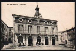 ROUJAN: Plan TOP Sur La Mairie, Animation Enfantine. Carte écrite à L'encre En 1912. - Autres Communes