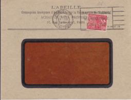Lettre 1931 PARIS Pour CAEN Timbre Perforé AV Timbre + Flamme Flier Exposition Coloniale 50c Yvert 272 - Marcophilie (Lettres)