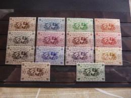 COLLECTION  SERIE  TIMBRES  REUNION   N 233 A 246   COTE  9,50  EUROS  NEUFS  LUXE** - Sammlungen (ohne Album)