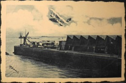 CPA. > AVIATION MARITIME à CHERBOURG - Hydravion G.L. Survolant La Station - TBE - Cherbourg