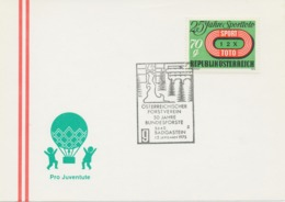 ÖSTERREICH 1975 5640 BAD GASTEIN ÖSTERREICHISCHER FORSTVEREIN 50 Jahre Bundesforste - 50 Jahre Dienst Am Wald - Affrancature Meccaniche Rosse (EMA)