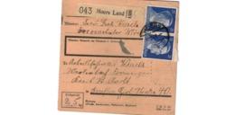 Allemagne  - Colis Postal  - Départ Moers Land    -   10-12-43 - Allemagne