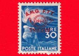 Nuovo - MNH - ITALIA - Trieste - AMG FTT -  1948 - Convegno Filatelico Di Trieste - Mano Che Impugna Una Fiaccola - 30 L - Ungebraucht