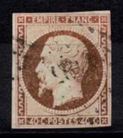 France Napoléon III 1853 - YT N°16 - Oblitéré Losange - 1862 Napoléon III
