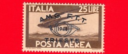 Nuovo - MNH - ITALIA - Trieste - AMG FTT - 1948 - Convegno Filatelico Di Trieste -  POSTA AEREA - Volo Di Rondini - 25 - - Posta Aerea