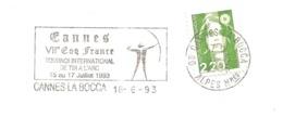 """1993 Tournoi International De Tir à L'Arc :""""VIIe Coq France""""  :Cannes - Tiro Con L'Arco"""