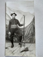 Photographie Chasseur Alpin - Régiment Infanterie Alpine - 158 Sur Col - BE - Militari