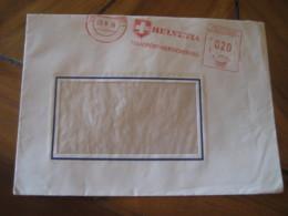 STUTTGART 1956 Helvetia Transport Switzerland Meter Mail Cancel Cover GERMANY - Svizzera