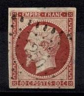 France Napoléon III 1854 - YT N°17 - Oblitéré Losange - 1853-1860 Napoléon III