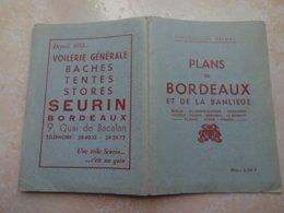 Plans De BORDEAUX Et De La Banlieu DELMAS - Très Bon état Comme Neuf - Planches & Plans Techniques