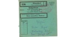 Allemagne  - Colis Postal  - Départ Düsseldorf  - Gust. Overhoff  Sohn  - 30-1-43 - Allemagne