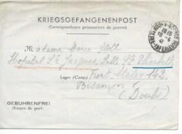 Formulaire KRIEGSGEFANGENENPOST Cad ROUEN 10/4/1941 Pour FRONT STALAG 142 TB - Postmark Collection (Covers)