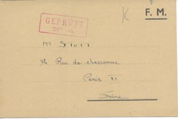 CP En FM De La GRANDE CASERNE DE ST DENIS  (imprimé) Pour PARIS  TTB - Storia Postale