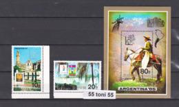 1985, PHILATELIC EXHIBITION - ARGENTINA ( HORSE , FOOTBALL) (Mi-2660/61+Bl.201 ) 2v.+S/S-MNH  NORTH KOREA - Corée Du Nord