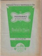 MONDORF LES BAINS 1957 - Programmes