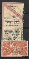 INDOCHINE     -    Poste Aérienne  -   1946 .  Y&T N° 39 Oblitéré.  Sur Coupon D'envoi De Mandat - Poste Aérienne