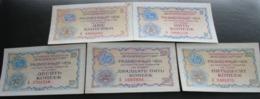 USSR Soviet Russia Vneshposyltorg Foreign Trade Set Of Checks 2, 5, 10, 25, 50 Kopecks 1976 Series A UNC - Rusland