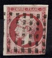France Napoléon III 1854 - YT N°17 - Oblitéré Gros Points - 1853-1860 Napoléon III