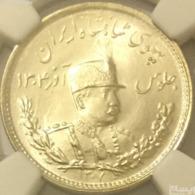 Reza Shah Pahlavi Silver 1000 Dinar / AH 1307 / NGC GRADED MS64 / TOP GRADE - Iran