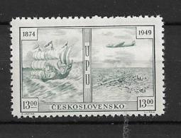 1949 MNH Czechoslovakia UPU Postfris** - Aerei