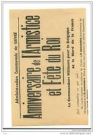 """Avis Communal """"des Autorités Allemandes"""" Interdisant Toute Manifestation  Les 11 Et 15 Novembre( Doc.entier ) - 1939-45"""