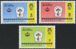Brunei 1985 S#327-329 International Day Of Solidarity With The Palestinian People MNH Palestine - Brunei (1984-...)