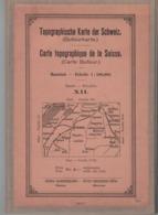 Carte Topographique De La Suisse - Carte Dufour Feuille XII Fribourg - Bern - 1907 - Sur Tissu (~77 X 59 Cm) - Topographische Kaarten